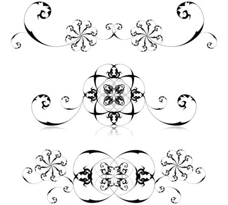 Vector illustration of floral decoration Vector
