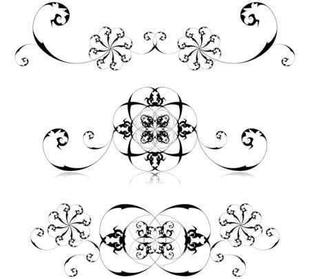 Vector illustration of floral decoration