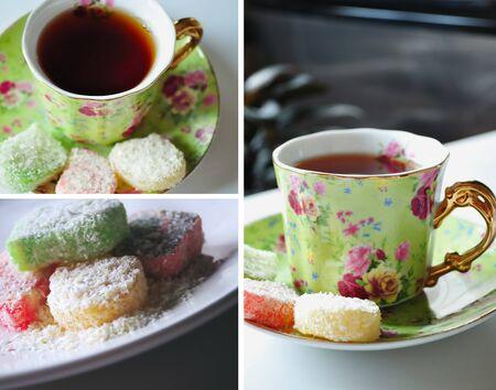 Tea time collage. Romantic & elegant.