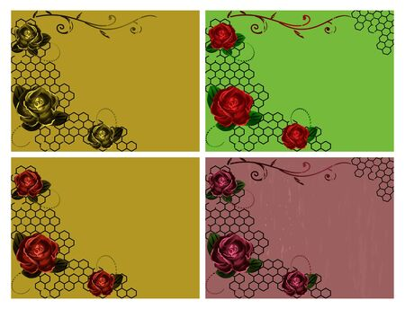 Roses vintage backgrounds Vector