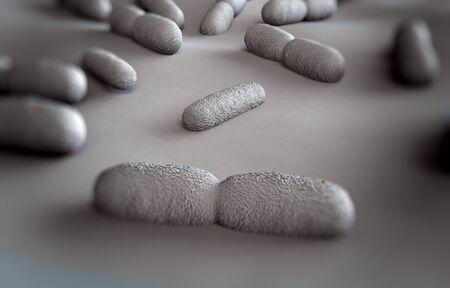 microscopic photos: Listeria sp. bacteria Stock Photo