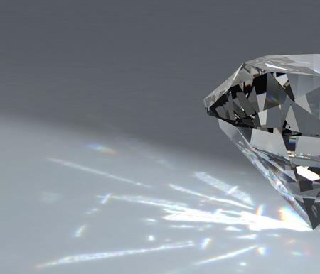 diamond on white background with high quality Standard-Bild