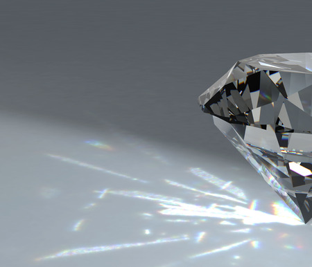 diamond background: diamond on white background with high quality Stock Photo
