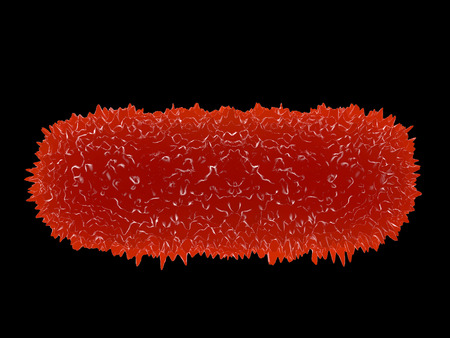 causative: Illustration of bacteria cells