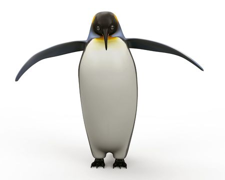 arctic penguin: Emperor penguins , cartoon penguins , 3d render penguins isolated on white background