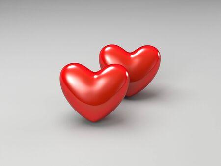 modernffection: heart  illustration Stock Photo