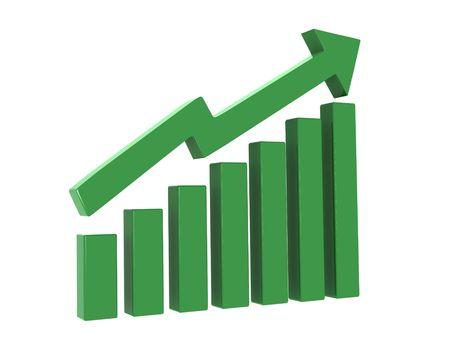 upward movements: illustration of growth  raise  share market