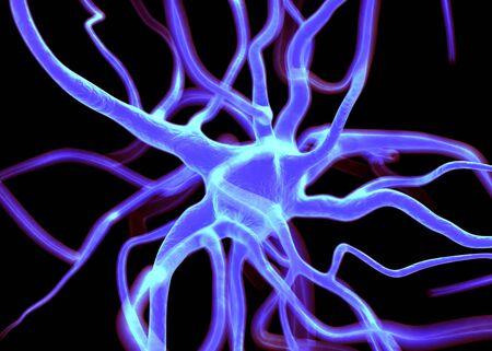 sistema nervioso central: Células neuronales o nerviosos que forman parte del sistema nervioso que procesar y transmitir la información por la señalización eléctrica y química. Foto de archivo