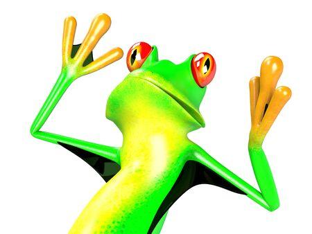 illustration of funny frog
