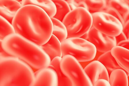 globulo rojo: ilustración de glóbulos rojos en alto detalle Foto de archivo