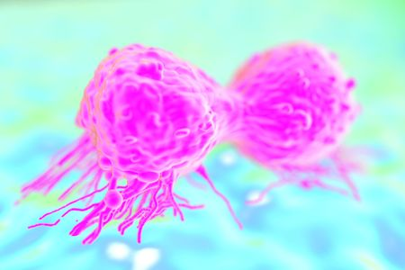 pseudopodia: cancer cell or tumor illustration in high details