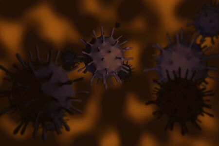 influenza: illustration of Swine Influenza in coloured background