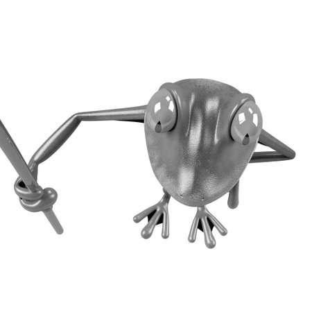 funny frog: illustration of funny frog