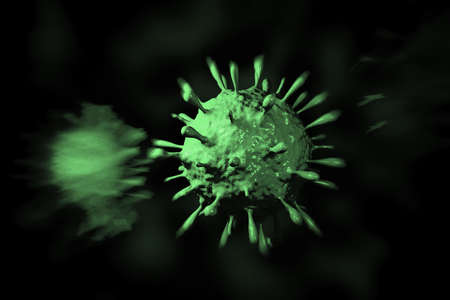 h1n1: illustration of Swine Influenza in coloured background