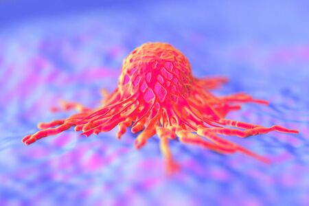 reproduction pathology: cancer cell or tumor illustration in high details