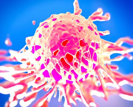 malignant growth: cancer cell or tumor illustration in high details