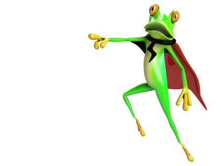 illustration of funny frog