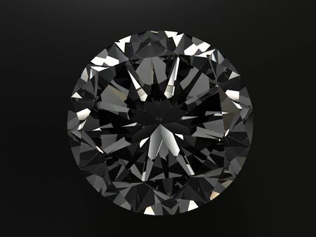 scintillate: diamond on black background with high quality