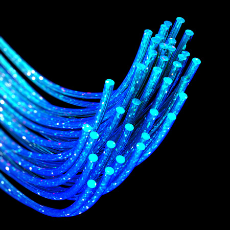 fiber optics: fiber optics Stock Photo