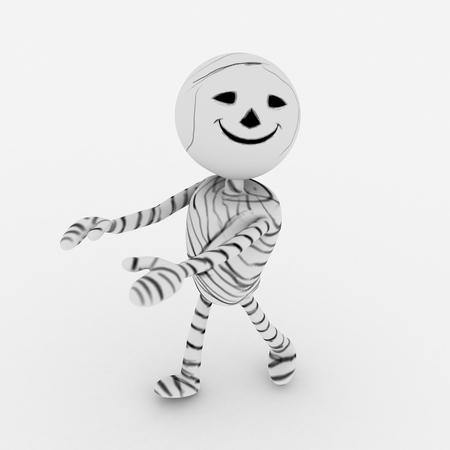 eye bandage: Halloween cartoon stylish and modern mummy character