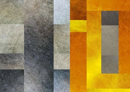 titanium: Gold and steel metal texture background