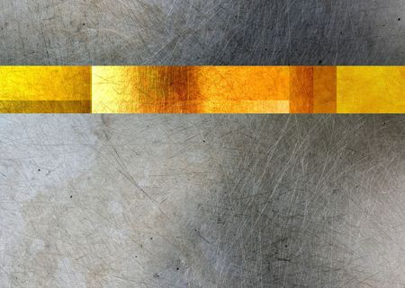 Gold and steel metal texture background
