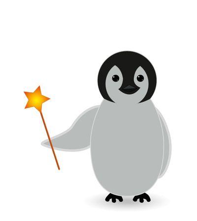 magic penguin with magic weapon Imagens