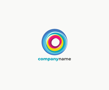 absract colorful circle logo template