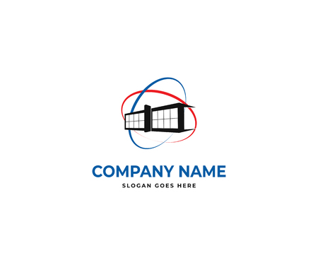 simple building logo design vector icon template