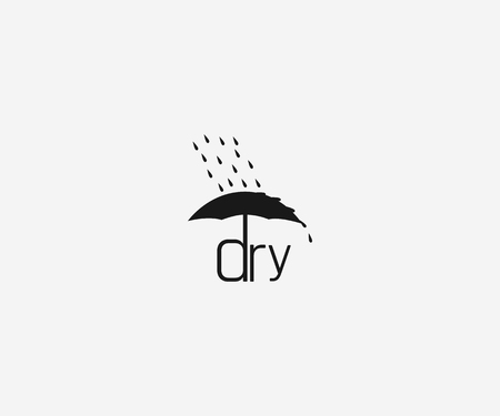 DRY logotype vector icon template