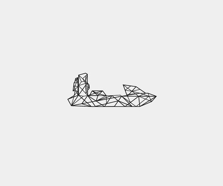 hovercraft icon technology vector Illustration