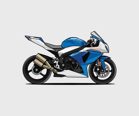 fresh modern motorcycle cartoon vector
