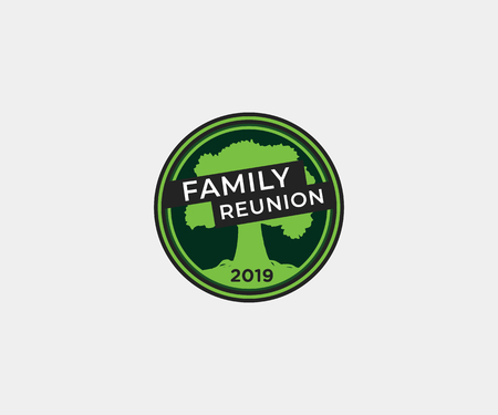 Family reunion tree t shirt design, vector logo, icon template