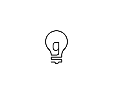Letter GS or G forming light bulb simple vector icon logo design