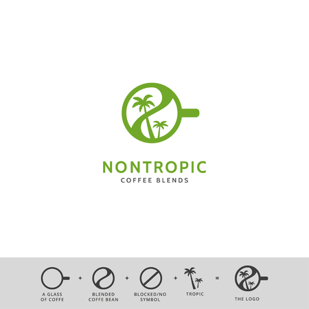 creative coffee shop simple vector icon logo design Illusztráció