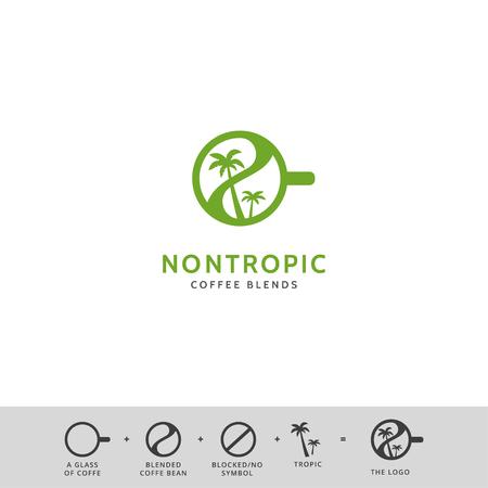 creative coffee shop simple vector icon logo design Illustration