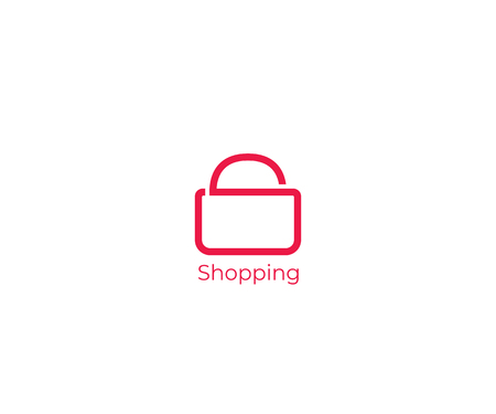 letter S forming shopping bag for shop logo icon vector