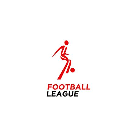 Football icon simple soccer motion logo template for football league