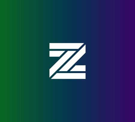 Z or ZZ logo icon template Illusztráció