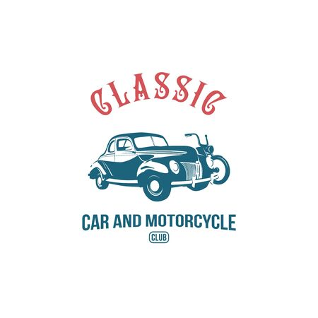 classic car and motorcycle logo template