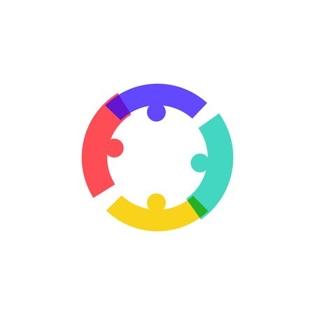 teamwork people crowd family together logo icon design