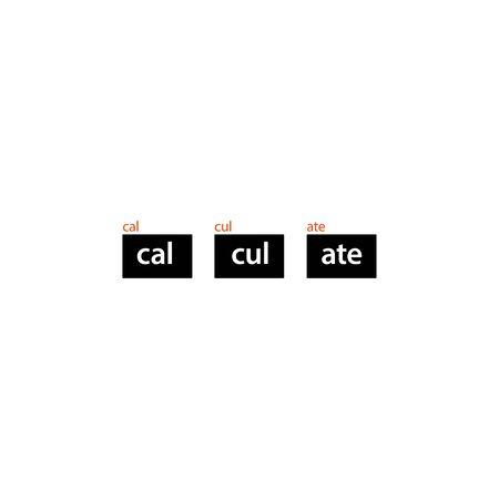 Calculate logo icon template Illustration