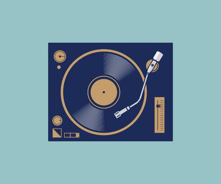classic turntable vector illustration Фото со стока - 129995428