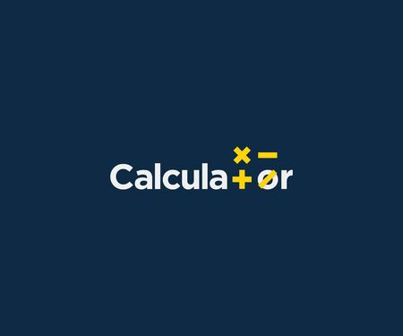 calculator logotype vector icon design