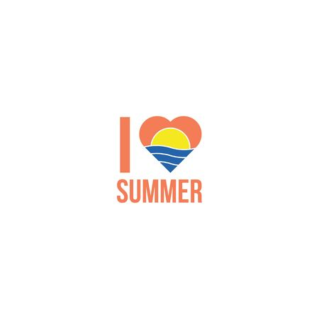 I love summer t shirt logo icon design
