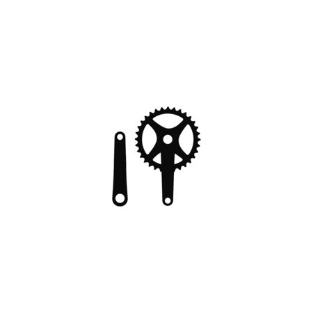 Moutain bike MTB crank vector illustration isolated object on white