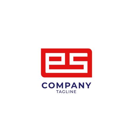ES letter logo icon sign. Stock Illustratie
