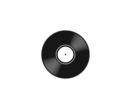 black vynil records cassette icon sign vector illustration