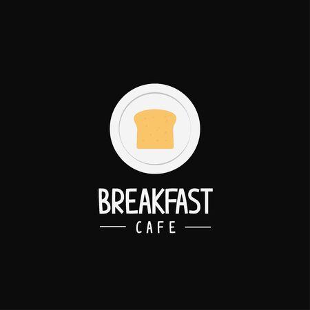 Breakfast cafe restaurant urban hipster logo icon sign template Çizim