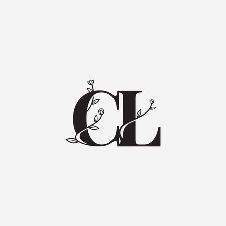 Letter CL floral logo vector illustration Vectores